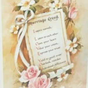 NEW Vintage Marriage Creed Inspirational Print Art